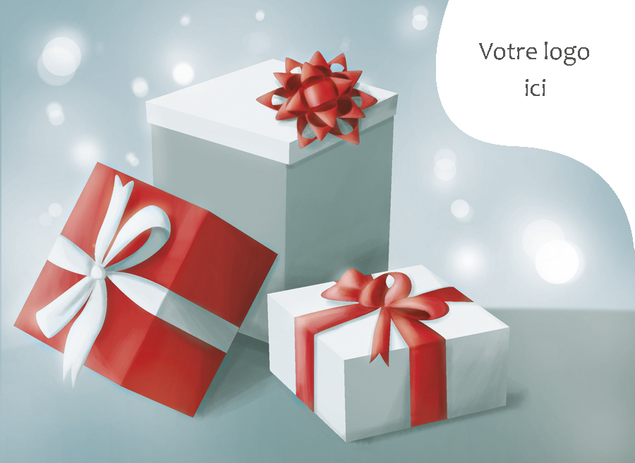 Carte de noël corporative N° 3508 - Présents