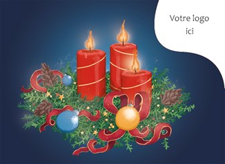 Carte de noël corporative N° 3604	Paix et amour