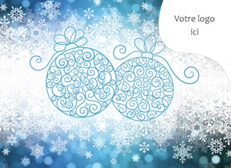 Carte de Noël corporative, 3807  Douceur festive