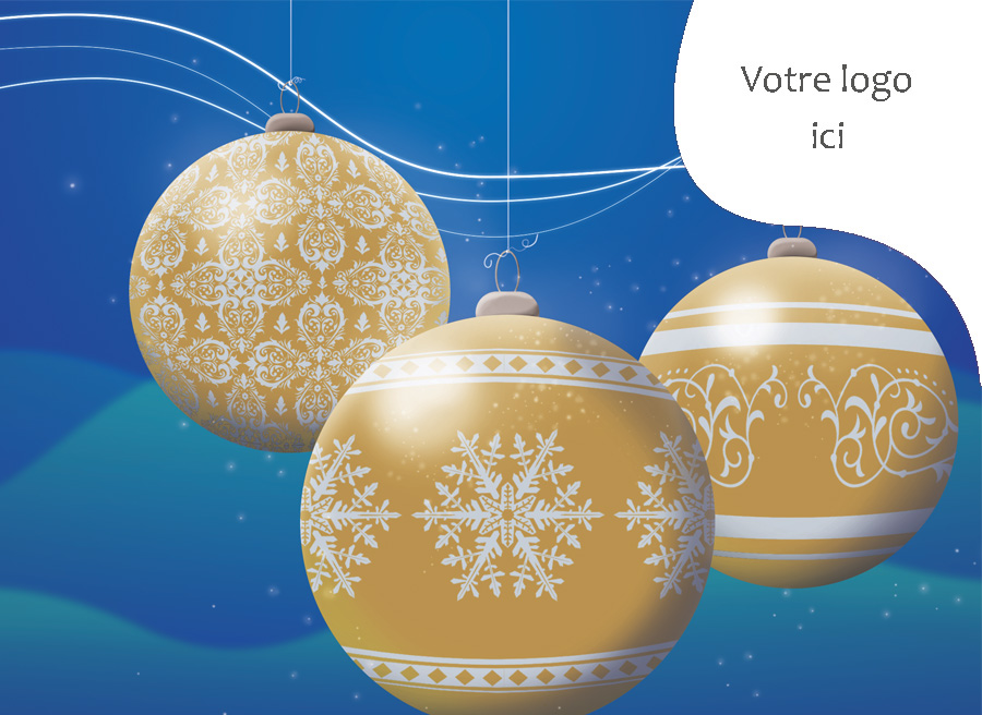 Carte de Noël corporative, 4001 Oh joie !