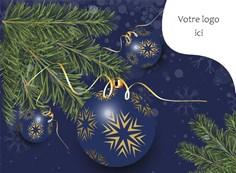 Carte de Noël corporative, 4008 Branches de sapin