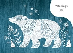 Carte de Noël corporative, 4010 Folk Art Bear